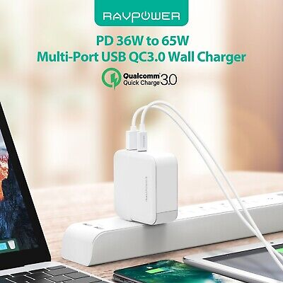 AU54.68 • Buy RAVPower 45W USB C PD Port EU PLUG Wall Charger Charging Station Power Adapter