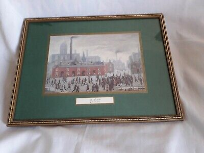 Framed L S  Lowry Print - An Accident - 41cm X 31cm - Under Glass - VGC • 17£
