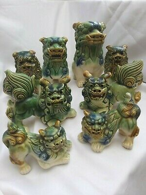 £14.99 • Buy Vintage Ceramic Foo Dogs Glazed Various (Dogs Of Fo) Excellent Condition.