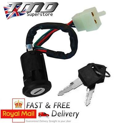 Universal Motorcycle Motorbike 4 Wire Ignition Barrel Key Switch Quad On/Off UK • 5.50£