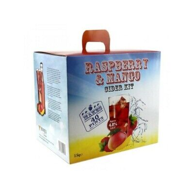 Youngs Raspberry & Mango Cider Kit - 40 Pints - Homebrew - Beer Brewing - Wi • 34.95£