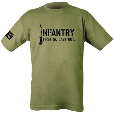 British Army Infantry T-shirt Mens S-2xl First In Last Out Union Jack Yorkshire  • 9.95£