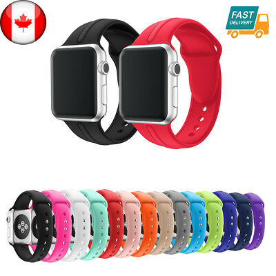$ CDN6.99 • Buy For Apple Watch Band 42mm 38mm Silicone Band Strap M L Various Colors