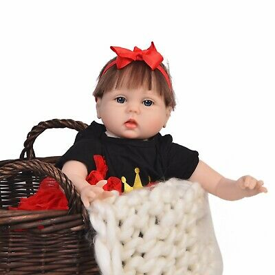 $ CDN48.30 • Buy Reborn Dolls 22  Girl Silicone Vinyl Handmade Baby Gift Toys Cloth Body