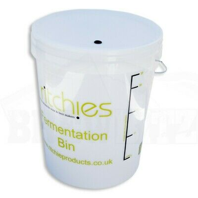 25 Litre Ritchies Fermentation Bucket + Lid & Grommet For An Airlock - Homeb • 14.95£
