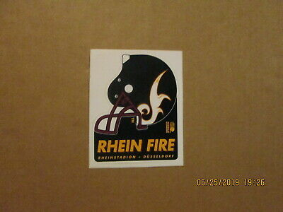 $ CDN33.10 • Buy World League Rhein Fire Vintage Defunct 2 Bar Facemask Logo Football Sticker