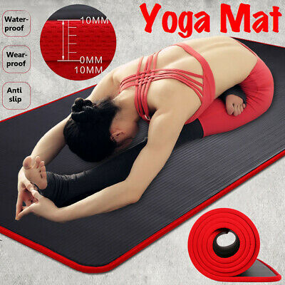 AU22.99 • Buy AU 183cm NBR Yoga Mat Pad Nonslip Exercise Fitness Pilate Gym Durable Waterproof