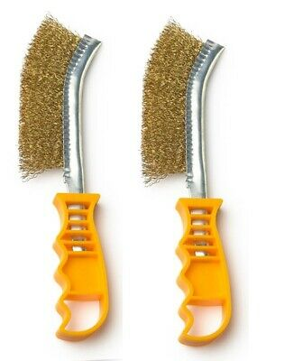 2 Pack Wire Brush Steel & Brass 250mm - Paint Rust Metal Remover  • 3.19£