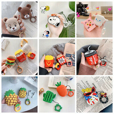 AU6.99 • Buy 3D Cartoon Bear Fries AirPod Charging Case Cover Skin For Apple AirPods 1 2