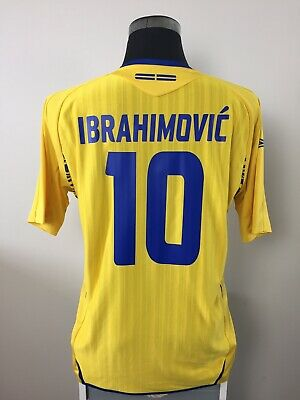 AU132.78 • Buy IBRAHIMOVIC #10 Sweden Home Football Shirt Jersey 2007-2009 (L)