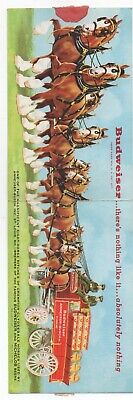 $ CDN33.02 • Buy 1950 Folding Advertising Postcard For Budweiser Showing Beer Wagon Clydesdales