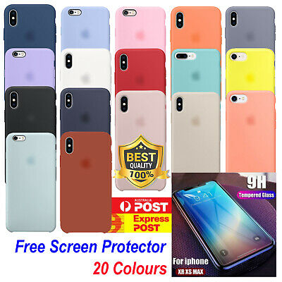 AU10.85 • Buy Luxury Silicone Case For IPhone XS MAX X XS XR 7 8 6 Plus Free Screen Protector