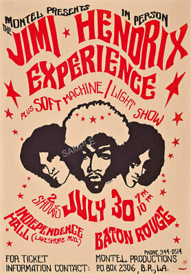 Vintage Music Poster Jimi Hendrix 1970s Gig Festival Advertising Art Print A3 A4 • 3.99£