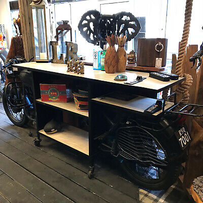 £1249.99 • Buy Indian Motorbike Bar Counter Bike Console Table Display Stand