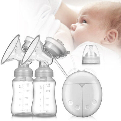 View Details UK Electric Hand Free Breast Pump Automatic Double Intelligent Baby Feeder USB • 12.99£