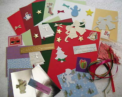 CHILDREN`S CHRISTMAS CARD MAKING / CRAFT KIT (MAKES 10 X A6 CARDS) Free Post • 5.55£