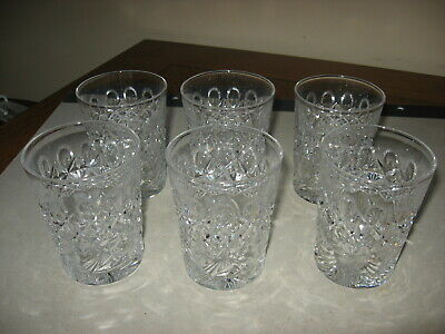 Set Of Six Matching Cut Glass Tumblers Signed Libbey American Brilliant Period • 124.99$