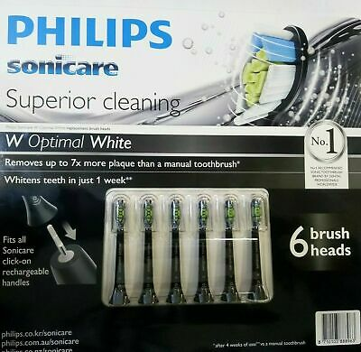 AU54.99 • Buy 6 X Black Philips Sonicare Optimal White Replacement Electric Toothbrush Heads