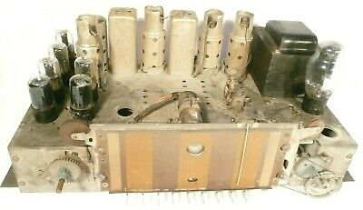 $ CDN94.41 • Buy Vintage SILVERTONE 6437A  RADIO Part: Untested CHASSIS W/ 13 TUBES & Good Tuning