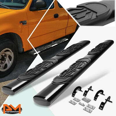 $176.89 • Buy For 97-03 Ford F150/F250 Ext Cab Oval 6  Side Step Nerf Bar Running Board Black