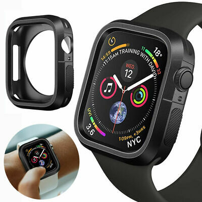 $ CDN4.54 • Buy For Apple Watch Series 4-40/44mm Silicone TPU Bumper Case Cover Shell Protector
