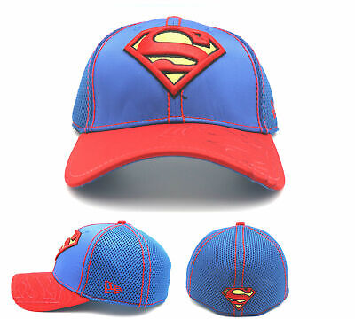 c20cfe1cd358a1 Superman New Era 39Thirty DC Comics Crop Neo Blue Red Flex Fitted Hat Cap M/