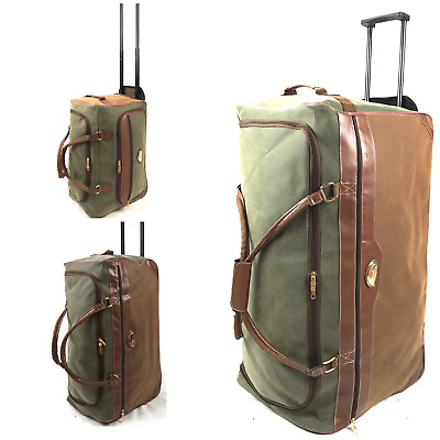 New Faux Suede Lightweight Luggage Wheeled Holdall Cargo Cabin Trolley Case Bag • 22.99£