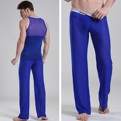 £24.96 • Buy Trousers Interior Size L Blue Transparent Manview By NEOFAN Sheer Ref M02
