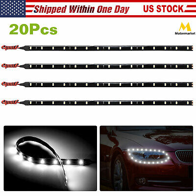 $12.07 • Buy 20PC 12  Flexible LED Light Strip For Car Automotive Tape Light 12V Waterproof