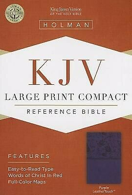 AU14.12 • Buy KJV Large Print Compact Reference Bible, Purple LeatherTouch .. NEW
