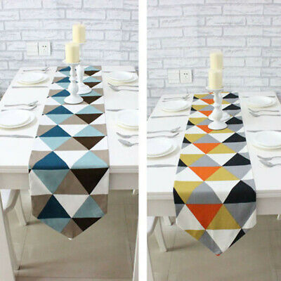 AU23.27 • Buy Home Table Runner Geometric Pattern Dining Room Party Decor Tablecloth Cover