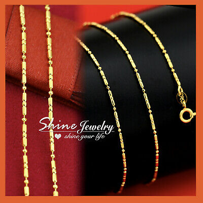 AU11.72 • Buy 9K GOLD GF 60cm MENS WOMENS GIRLS 1MM Pattern CHAIN NECKLACE For Charm Pendant