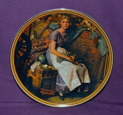 $ CDN21 • Buy  Plate By Norman Rockwell  Dreaming In The Attic  Rockwell's Rediscover Women