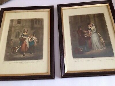 2 Vintage Cries Of London Framed Prints - F. Wheatley - 10.3/4  X 8  • 13.99£