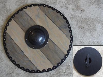 60cm Hand Made Full Contact Large Viking Round Shield For Re-enactment Stage #v3 • 79£