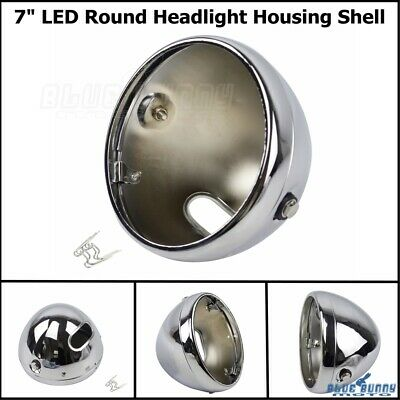 AU46.10 • Buy 7Inch Motorcycle Headlight Housing Shell Lamp Bulb Bucket For Harley Cafe Racer