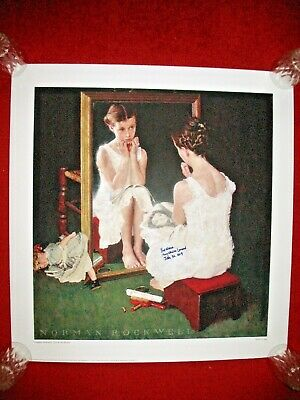 $ CDN400.01 • Buy GIRL AT THE MIRROR NORMAN ROCKWELL SIGNED MODEL PRINT Poster Movie Star Doll