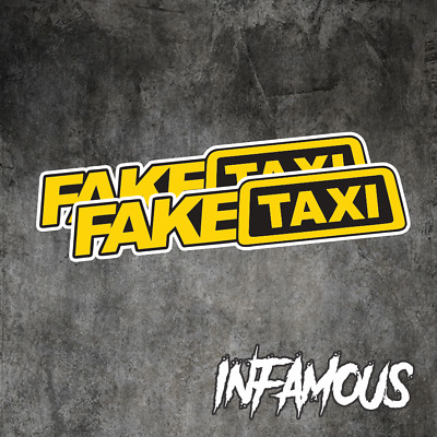 AU4.62 • Buy FAKE TAXI Sticker Decals Funny JDM Drift Turbo Hoon Race Car