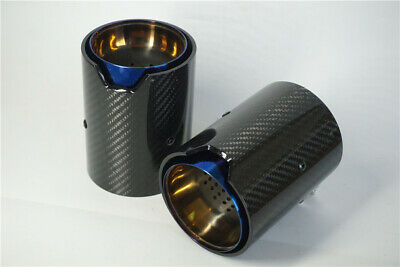 $ CDN156.94 • Buy 2PCS Carbon Fiber Exhaust Tip For BMW 1234 M Performance Exhaust Pipe Upgrade