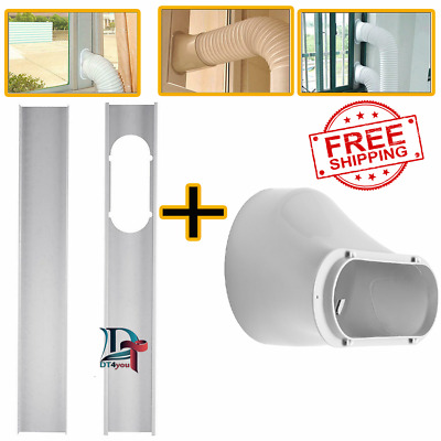 AU21.77 • Buy 2pcs Adjustable Window Slide Kit Plate Air Conditioner Wind Shield For Portable