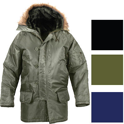 $ CDN123.10 • Buy Cold Weather N-3B Military Snorkel Parka Jacket Long Insulated N3B Winter Coat