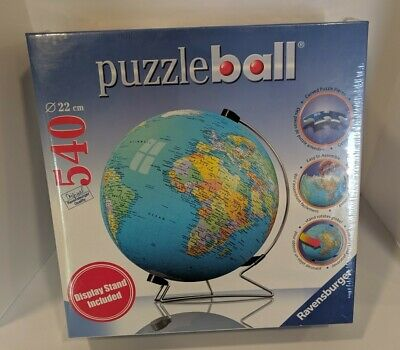 Ravensburger Puzzle Ball 540 Pc 3D Globe Earth World Display Stand SEALED NEW • 24$