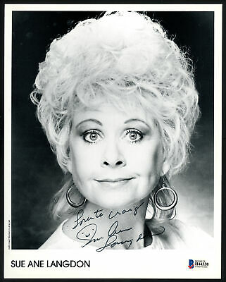 $19 • Buy Sue Ane Langdon Autographed Signed 8x10 Photo Actress  To Craig  Beckett H44338