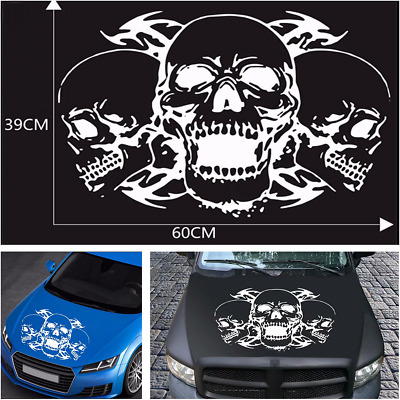 $11.98 • Buy Universal Car Hood Stripes Skull Decals Stickers Vinyl Graphics For SUV Pickup