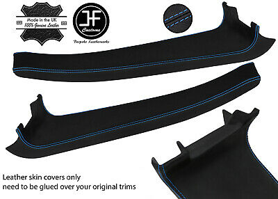 $ CDN254.46 • Buy Blue  Stitch 2x Door Sill Trim Top Grain Leather Cover For Lotus Elise S2 07-11
