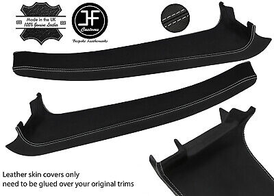 $ CDN254.46 • Buy Grey Stitch 2x Door Sill Trim Top Grain Leather Cover For Lotus Elise S2 07-11
