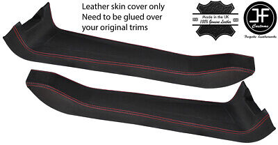 $ CDN265.12 • Buy Red Stitch 2x Door Sill Trim Top Grain Leather Cover For Lotus Elise S2 01-10