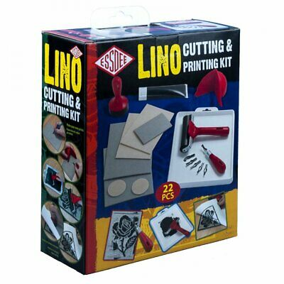 £24.59 • Buy Essdee Lino Cutting And Printing Kit - 22 Pieces Set  Create Stamps And Prints