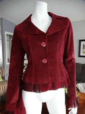 $ CDN79.99 • Buy DANIER Burgundy Suede Jacket Small