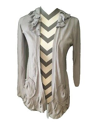 $ CDN40 • Buy Guinevere Size S Anthropologie Cardigan Knit Sweater Modcloth Gray